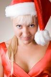 Pregunta silenciosa de la muchacha de la Navidad Foto de archivo