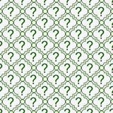 Pregunta verde y blanca Mark Symbol Pattern Repeat Background Fotografía de archivo