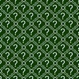 Pregunta verde y blanca Mark Symbol Pattern Repeat Background Foto de archivo libre de regalías