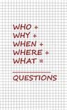 Preguntas Imagen de archivo libre de regalías