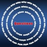 Preguntas Foto de archivo