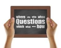 Preguntas Fotografía de archivo