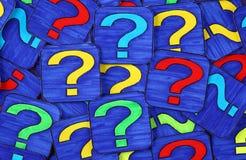 Preguntas Foto de archivo libre de regalías