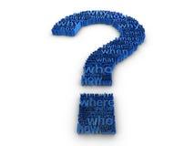 Preguntas con frecuencia hechas Imagen de archivo
