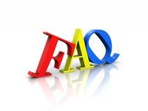 Preguntas con frecuencia hechas coloridas del FAQ Imagen de archivo