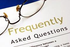 Preguntas con frecuencia hechas (FAQ) Foto de archivo libre de regalías