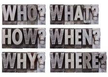 Preguntas de la reunión de reflexión o de la decisión Imagen de archivo libre de regalías