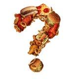 Preguntas de los alimentos de preparación rápida stock de ilustración
