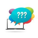 Preguntas del ordenador Imagen de archivo libre de regalías