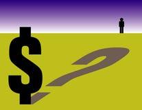 Preguntas financieras Foto de archivo libre de regalías