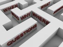 Preguntas - laberinto Foto de archivo libre de regalías