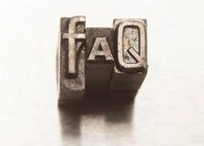 Preguntas más frecuentes Imagen de archivo