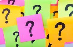 Preguntas o concepto de la toma de decisión Fotografía de archivo libre de regalías
