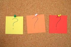 Preguntas por contestar Foto de archivo libre de regalías