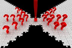 Preguntas. rompecabezas. Idea Imagen de archivo libre de regalías