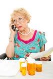 Preguntas sobre seguro médico Imágenes de archivo libres de regalías