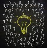 Preguntas y concepto de la idea Fotos de archivo