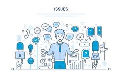 Preguntas y entrevistas, comunicaciones, intercambio de información Burbujas del discurso del diálogo libre illustration