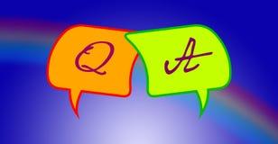 Preguntas y respuestas Foto de archivo libre de regalías