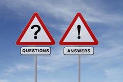 Preguntas y respuestas Fotos de archivo