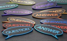 Preguntas y respuestas Foro de discusión stock de ilustración