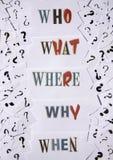 Preguntas Fotografía de archivo libre de regalías