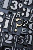 Pregunte los números 2 fotografía de archivo