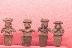 Prehispanic art at Rufino Tamayo Museum in Oaxaca Mexico. Oaxaca, Oaxaca / Mexico - 21/7/2018: Prehispanic art at Rufino Tamayo Museum in Oaxaca Mexico royalty free stock photography