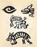 Prehispanic figures Royalty Free Stock Photography