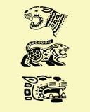 Prehispanic jaguary ilustracja wektor