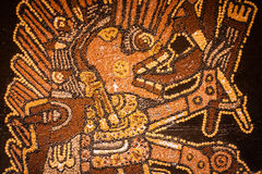 Prehispanic mosaic from seeds and grains.  Royalty Free Stock Photography