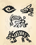Prehispanic postacie royalty ilustracja