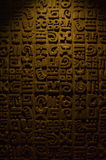 Prehispanic Texture. Prehispanic background texture with low light Royalty Free Stock Photos