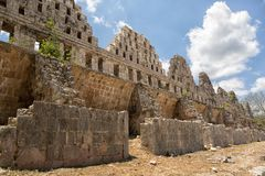Uxmal mayan ruins in Mexico. Prehispanic town of Uxmal is a Unesco World Heritage site Royalty Free Stock Images