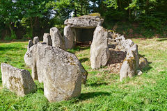 Prehistiric Dolmen in Normandy Royalty Free Stock Photos
