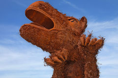 Prehistoric Animal - Metal Sculpture Royalty Free Stock Image