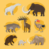 Prehistoric animals cartoon icons Royalty Free Stock Photo