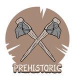 Prehistoric ax. Creative design of prehistoric ax Stock Photography