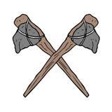 Prehistoric ax. Creative design of prehistoric ax Stock Photos