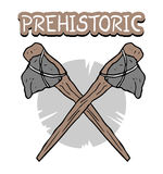 Prehistoric ax symbol Stock Photos