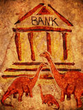 Prehistoric bank Stock Photo