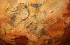 Prehistoric bison in the Altamira caves Stock Photo