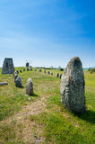 Prehistoric burial ground, Sweden. Stock Photos
