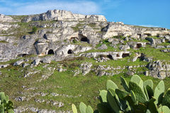 Prehistoric Cave Dwellings Royalty Free Stock Photo