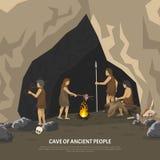 Prehistoric Cave Illustration Stock Image