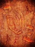 Prehistoric cave paint stock illustration