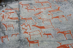 Prehistoric cave painting royalty free stock image