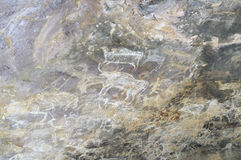 Prehistoric cave painting in Bhimbetka -India. Royalty Free Stock Images