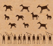 Prehistoric cave paintings Royalty Free Stock Photo