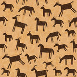 Prehistoric cave paintings seamless pattern Royalty Free Stock Photos